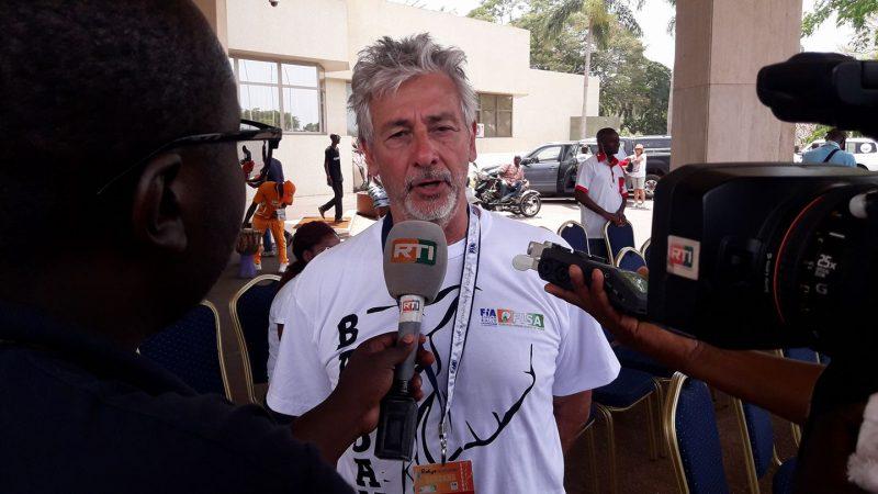 FISA President, Alain Ambrosino and ex- Dakar Rally Peugeot Factory Driver