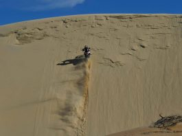 motorcycle sand riding