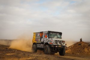 truck racing in the africa race